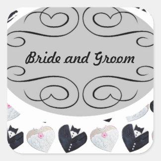 Wedding til forever <3 square sticker