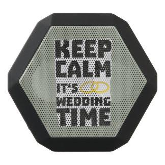 wedding time keep calm Zw8cz Black Bluetooth Speaker