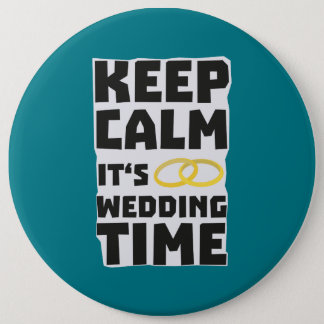 wedding time keep calm Zw8cz Button