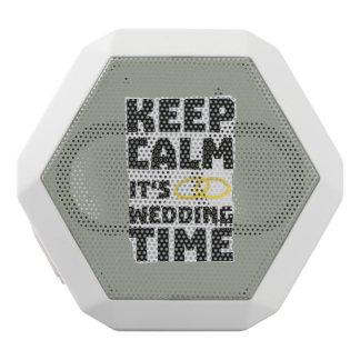 wedding time keep calm Zw8cz White Bluetooth Speaker