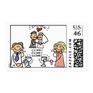 Wedding Toast Stamps