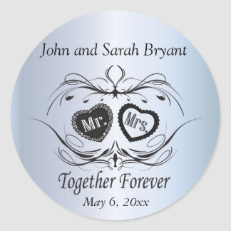 Wedding Together Forever Classic Round Sticker
