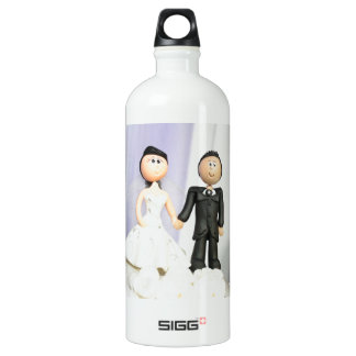 Wedding Topper Bride and Groom Water Bottle