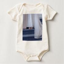 Wedding Train Baby Bodysuit