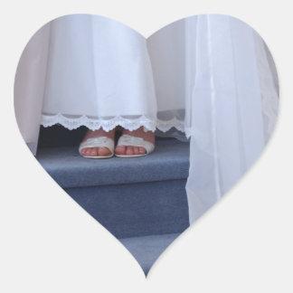 Wedding Train Heart Sticker