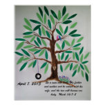 Wedding Tree Guest Book Gift Poster