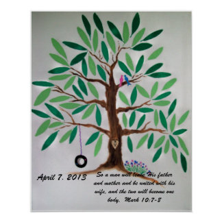 Wedding Tree Guest Book Gift Print