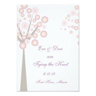 "Wedding Tree 5"" X 7"" Invitation Card"