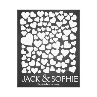 wedding tree signature guest book heart chalk
