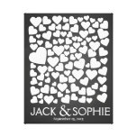 wedding tree signature guest book heart chalk canvas print