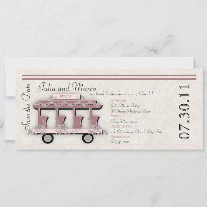 Trolley Wedding Card