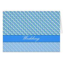 Wedding Turquoise Blue Wavy Pattern Card