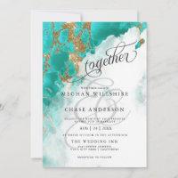 WEDDING |  Turquoise Watercolor BarefootBride™