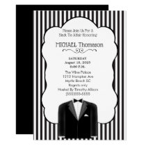 Wedding Tux Bachelor  Party  Invitation