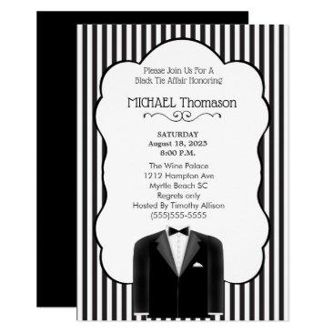 Wedding Themed Wedding Tux Bachelor  Party  Invitation
