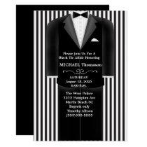 Wedding Tux Black Tie Affair Party  Invitation
