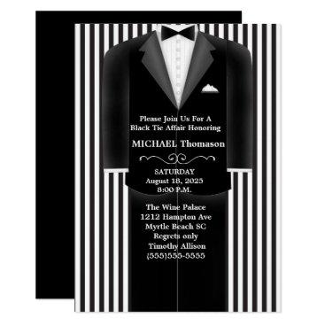 Wedding Themed Wedding Tux Black Tie Affair Party  Invitation