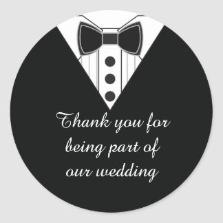 Wedding Tuxedo Thank You Favor Stickers