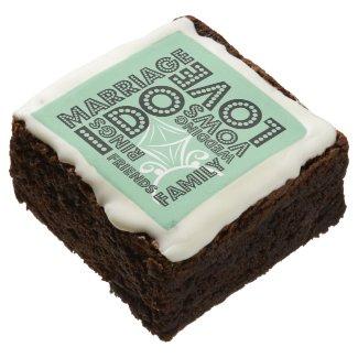Wedding Typography | Custom Brownies Square Brownie