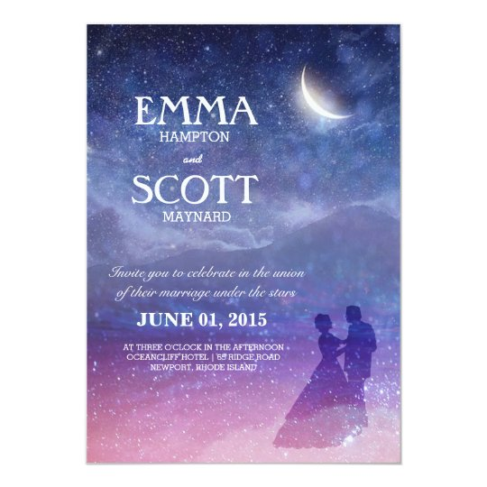 wedding under the stars invitation dancing couple zazzle com