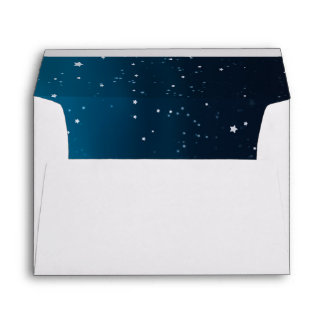 Wedding under the stars matching invitation set envelope