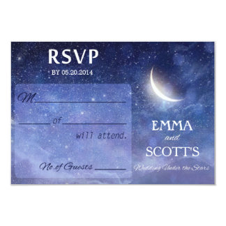 Wedding under the stars RSVP card set
