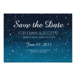 Wedding under the stars Save the Date Card