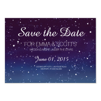 Wedding under the stars Save the Date PURPLE Card