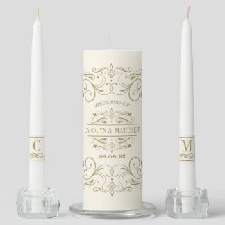 Wedding Unity Candle Set | Antique Flourish