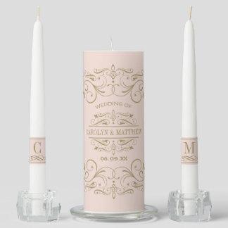 Wedding Unity Candle Set | Antique Flourish