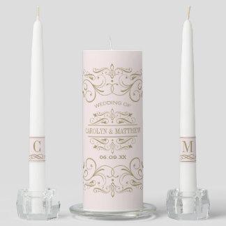 Wedding Unity Candle Set   Antique Flourish