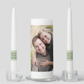 Wedding Unity Candle Set | Custom Photo