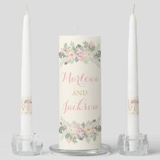 Wedding Unity Candle Set | Spring Boho Florals