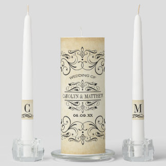 Wedding Unity Candle Set | Vintage Flourish
