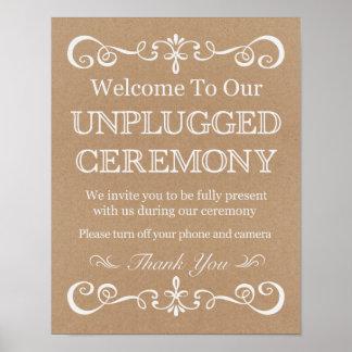 Wedding Unplugged Ceremony Rustic Wedding Sign