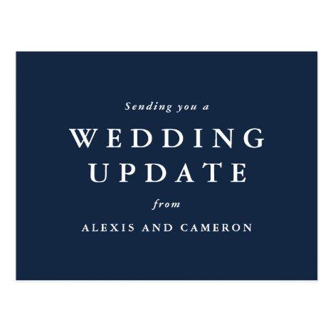 Wedding update classic postcard