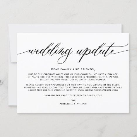 Wedding Update | Smaller Wedding Announcement