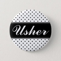 Wedding usher pinback buttons