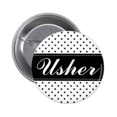Wedding Usher Pinback Buttons at Zazzle