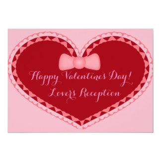 Wedding Valentines Day Romantic Heart Invitation