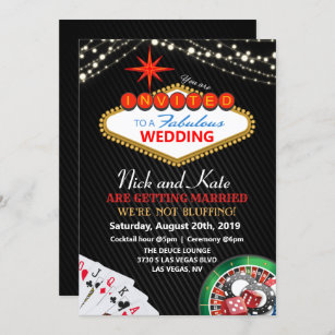 Las Vegas Wedding Invitations 100