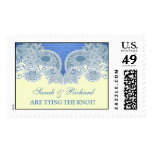 Wedding Victorian Blue Large Postage