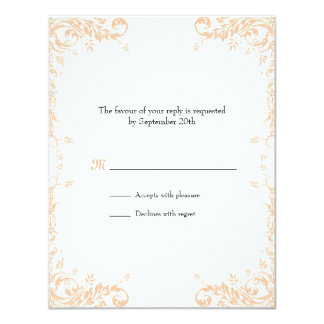 Wedding Vines (Peach) Response Card