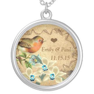 Wedding Vintage Bird  Anniversary Necklace