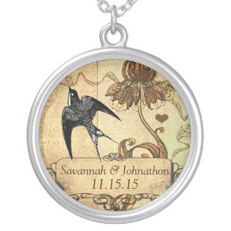 Wedding Vintage Bluebird Anniversary Necklace