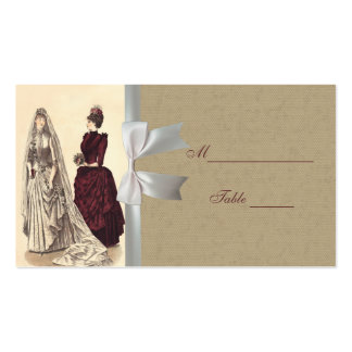 Wedding Vintage bridal party brides and bridesmaid Business Card Template
