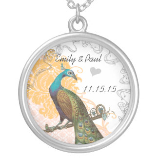 Wedding Vintage Peacock Anniversary Necklace