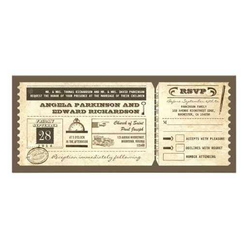 Movie Ticket Wedding Invitations with great invitations design