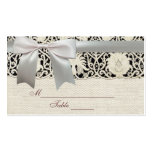 Wedding Vintage White Lace and Linen Double-Sided Standard Business Cards (Pack Of 100)