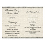 Wedding Vintage White Lace and Linen Custom Flyer